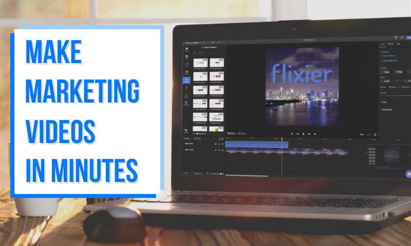 How to create a promotional video in minutes with Flixier